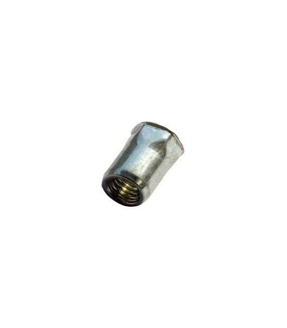 Заклепка M8*17 мм из стали с внутренней резьбой, уменьшенный бортик, полушестигранная