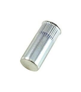 Заклепка резьбовая закрытая с маленьким бортиком и насечкой из стали M4*16 мм