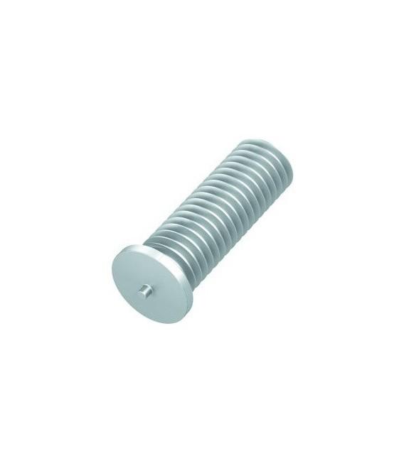Шпилька приварная резьбовая M4x20 алюминиевая