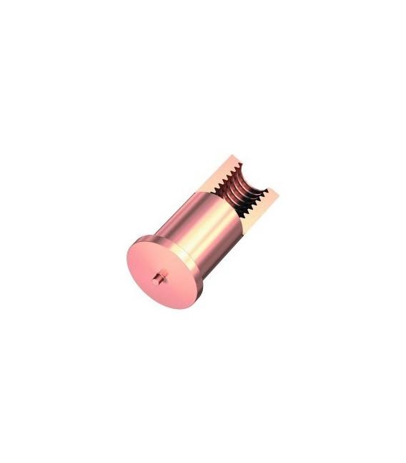 Втулка приварная резьбовая M4x10 омедненная