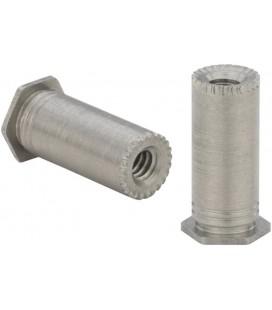 Втулка запрессовочная резьбовая для заземления печатных плат M3