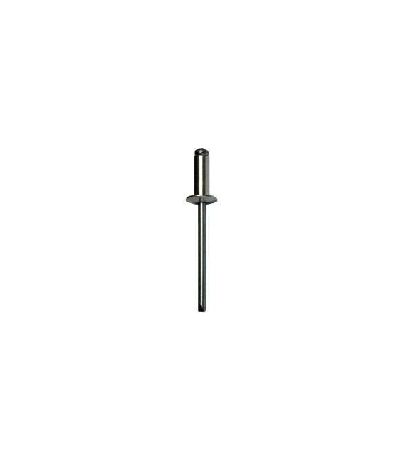 Заклепка вытяжная 5*20 мм со стандартным бортиком (алюминий/сталь)