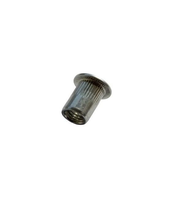 Заклепка M4*12 мм алюминиевая с внутренней резьбой, цилиндрический бортик, с насечкой