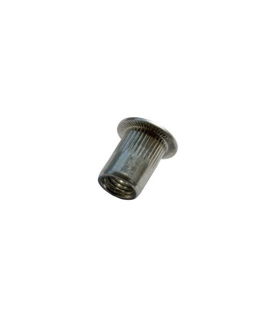 Заклепка M10*17 мм из нержавеющей стали с внутренней резьбой, цилиндрический бортик, с насечкой