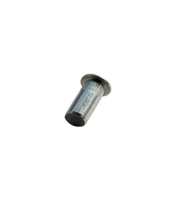 Заклепка M5*19 мм из стали с внутренней резьбой, цилиндрический бортик, закрытая с насечкой