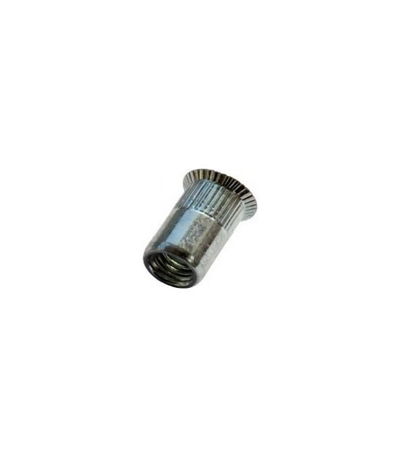 Заклепка M5*13,5 мм из стали с внутренней резьбой, потайной бортик, с насечкой