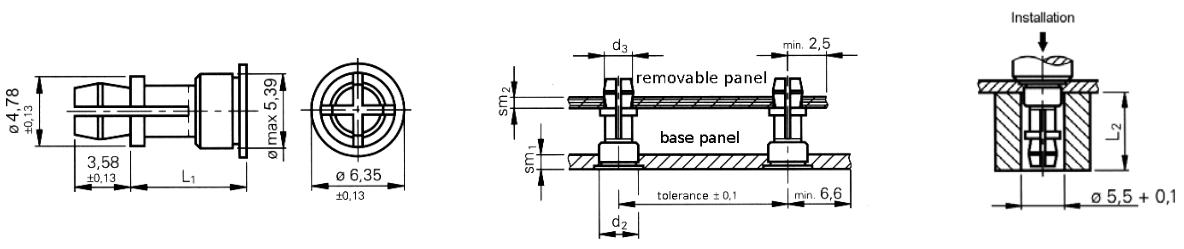 Стойка запрессовочная дистанционная для печатных плат