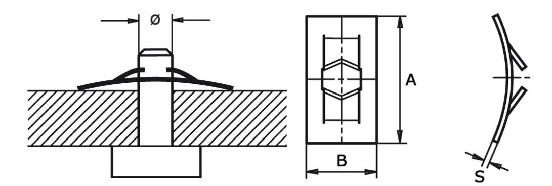 Шайба стопорная прямоугольная 2-10 мм